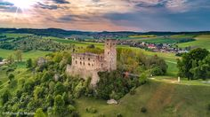Ruin Niederhaus before sunset - Aerial photography See for details: http://ift.tt/2rxuxs5