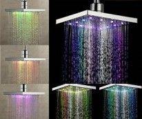 Multi-Color LED Rainfall Shower Head