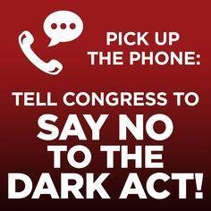Say no to the DARK act aka Pompeo bill