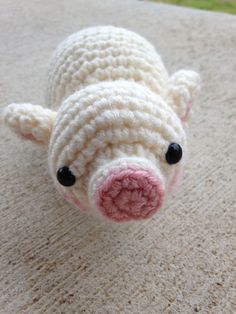 Baby Pig  Pattern and crochet by me. Available on Craftsy soon! Will update with a link when it's up.