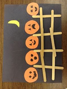 Preschool Art for Kids *: Halloween Five Little Pumpkins Preschool Art - Crafts for Kids Halloween Crafts For Toddlers, Fall Crafts For Kids, Halloween Projects, Kids Crafts, Holiday Crafts, Fall Crafts For Toddlers, Halloween Arts And Crafts, Cat Crafts, Creative Crafts