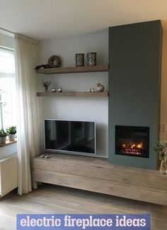 Wohnzimmer Ideen Media wall, shelving, TV, inset fire, stove Kitchen Improvements - Enjoy Now and Wh New Living Room, Living Room Tv, House Interior, Home Deco, Home, Pinterest Living Room, Room Design, Home And Living, Home Living Room