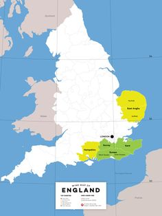 Get to know all about English wine.  Here's a map of where to look for wines in England   #winemaps #EnglishWine #Wine101