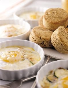 Baked Eggs With Cheese and Zucchini