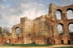 Roman Baths in Trier, Germany - I loved visiting Trier when I was stationed at Birkenfeld AFB.