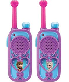 Disney Frozen KIDdesigns Chill 'n' Chat FRS 2-Way Radios $29.99  Have a heart-to-heart with your best friend with these totally cute two-way radios! Made especially for fans of the new Disney Movie Frozen. These fun toys are a super cool way to chat, make plans and more.