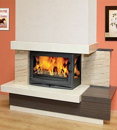 Invicta 700 Selenic Wood Burning Stove With Right Glass Plywood Furniture, Modern Furniture, Furniture Design, Boiler Stoves, Inset Stoves, New Stove, Small Fireplace, Chair Design, Design Design