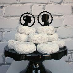 Custom Silhouette Wedding Cake Topper in by Silhouetteweddings
