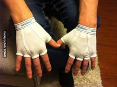 Best Christmas gift I ever got. Handerpants. I hope I get my brother in the grab bag this year!