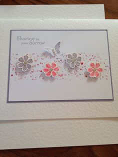 Sympathy card Stampin Up