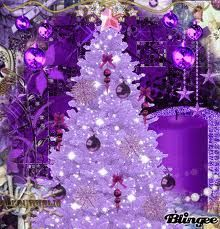 A purple sparkle Christmas tree to go with a purple santa- I want one!!! Upside down would be even better. Read more in our whimsical tale!
