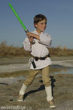 DIY Luke Skywalker costume for kids. Star Wars