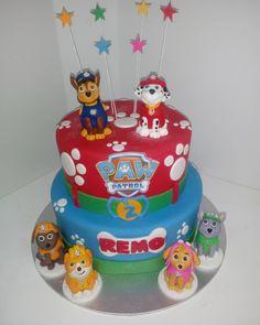 #pawpatrol #pawprints #dogs #puppies #stars #cake #dlish Paw Patrol, Birthday Cakes, Puppies, Unisex, Stars, Dogs, Desserts, Puppys, Anniversary Cakes
