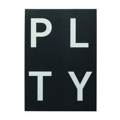 PLTY notepad, black, by Playtype.