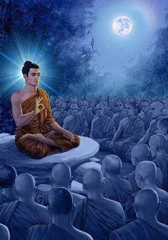 Lord Buddha Preaching to Monks (Reprint on Paper - Unframed) Art Buddha, Buddha Kunst, Buddha Life, Buddha Painting, Gautama Buddha, Buddha Buddhism, Buddhist Practices, Buddha Tattoos, Meditation Music