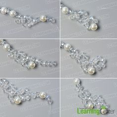 make the second part of the crystal glass bead necklace