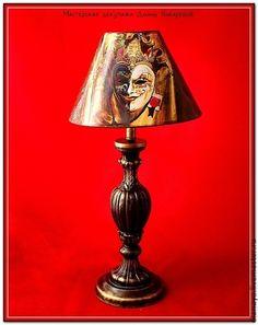 """Освещение ручной работы. Ярмарка Мастеров - ручная работа Настольная лампа """"Золото Венеции"""" декупаж. Handmade."""