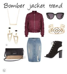 """""""Bomber jacket trend www.stelladot.com/olgaevans"""" by olli16485 on Polyvore featuring Calvin Klein, Topshop, Charlotte Russe and Stella & Dot"""