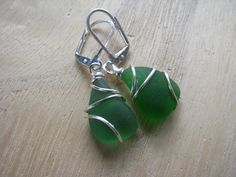 Green Sea Glass Earrings for a Beach Wedding Green Bridesmaid Gifts Real Beach Glass Genuine Sea Glass Jewelry Seaglass - Green Sea Glass Earrings for a Beach Wedding Green Bridesmaid Gifts Real Beach Glass Genuine Sea Gl - Beach Wedding Jewelry, Beach Jewelry, Sea Glass Jewelry, Blue Bridesmaids, Bridesmaid Gifts, Bridesmaid Earrings, Glass Earrings, Green, Etsy