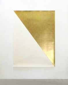 Contemporary #art | abstract compositon in gold leaf and paper | Willy de Sauter