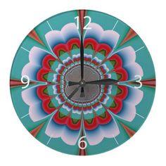 Funky flower wall clock