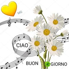 Good Morning Coffee, Music Notes, Good Day, Tapestry, Watercolor, Illustration, Poster, Daisy Flowers, Charlie Chaplin