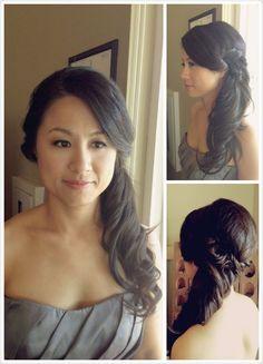 Hairstyles for Medium Length Hair Pony Hairstyles, Pretty Hairstyles, Wedding Hairstyles, Updo Hairstyle, Wavy Curls, Long Wavy Hair, Curls Hair, Side Curls, Long Curls