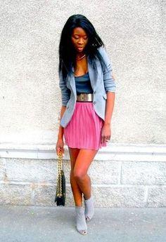 Skater skirt and blazer