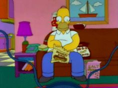 Discover & share this Homer Simpson GIF with everyone you know. GIPHY is how you search, share, discover, and create GIFs. Homer Simpson, The Simpsons, Betty Boop, Eating Gif, Hello Kitty, Describe Your Personality, Nfl Season, Picture Collection, Animated Gif