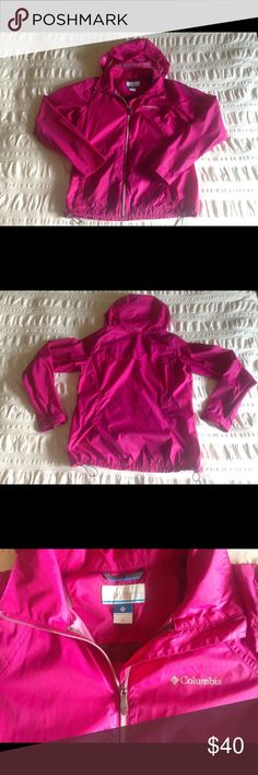 Columbia wind breaker Magenta Columbia wind breaker in like new condition. It has only been worn a handful of times! Columbia Jackets & Coats