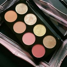 Makeup Revolution Blush Palette Golden Goddess- Another favorite blush palette. Has blushes to suite several skin tones plus four highlighters.