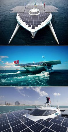 The Planet Solar Boat:    Read more: 26 Bizarre and Creative Watercraft You Never Knew Existed! http://americaloveshorsepower.com/23-bizarre-and-creative-watercraft-you-never-knew-existed/