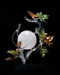"*Art Glass - ""Autumn Sphere"" by Jacqueline McKinny"