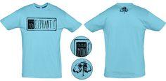 """Tee-shirt Bleu Atoll """"les opticiens"""" Création de t-shirts avec des créateurs du collectif """"T'as pas vu mon éléphant?"""" Site de créations fait main et d'illustrations. www.tpvme.com"""