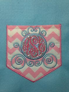 Cinderella inspired sparkly chevron pocket by SewSparklyByHeather