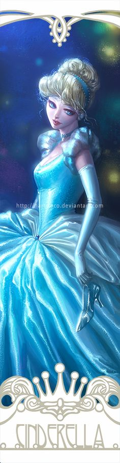 Disney Princesses Bookmarks: Cinderella by hart-coco on deviantART