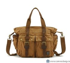 Color : Khaki AIYAMAYA Large-Capacity Mens SLR Camera Bag Double Shoulder Photography Canvas Bag