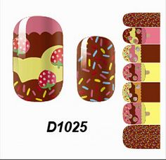 1 Sheet Good-looking Popular Hots Nail Art Wraps Sticker Decoration Tips DIY Decals Varnish Kit Fashion Style D1025 *** Read more reviews of the product by visiting the link on the image.