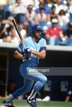 Kirk Gibson of the Kansas City Royals bats against the Chicago White Sox during an Major League Baseball game circa 1991 at Comiskey Park in Chicago, Illinois. Gibson played for the Royals in Baseball Games, Baseball Players, Baseball Field, Chicago White Sox, Kirk Gibson, Square Photos, Oakland Athletics, Kansas City Royals, Photo Checks