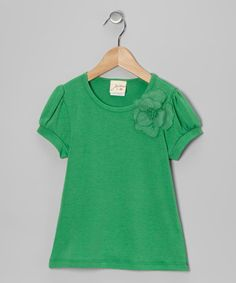 Take a look at this Green Blossom Tee - Girls by Vanilla Crème on #zulily today!