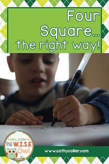 This takes another look at a good (and often misunderstood) writing technique developed by Gould and Burke. This is a great way to get early writers writing independently. Personal Narrative Writing, Personal Narratives, Writing Lessons, Writing Activities, Writing Ideas, Teaching Strategies, Teaching Tips, Four Square Writing, Kindergarten Writing