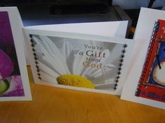 Recycle old greeting cards to make new ones!