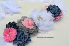 Your place to buy and sell all things handmade Maternity Photo Props, Maternity Sash, Maternity Photos, Newborn Photos, Pregnancy Photos, Denim Flowers, Chiffon Flowers, Sash Belts, White Chiffon