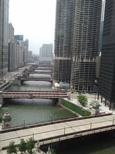 The Chicago River.