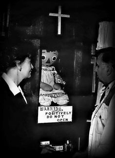 The real Annabelle doll in the conjuring