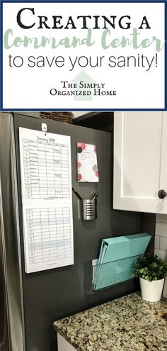 Kitchen Command Center and 2019 Family Calendar Organisation Ideen Unordnung