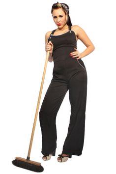 Tolle figurbetonende vintage Latz-Marlenehose im 50er Jahre Style mit modischem Beinumschlag. Die dezente Paspel sowie die tollen Zier-Knöpfe im Streifen-Design setzen einen tollen Akzent. Die Hosenträger sind verstellbar und sind so lang, dass man diese am Rücken kreuzen kann! Im Rücken mit langem Reißverschluss zu öffnen. http://goinsane.rakuten-shop.de/hosen-und-jumpsuits-51914801 www.facebook.com/go.insane.shop www.twitter.com/goinsaneshop www.gplus.to/goinsane