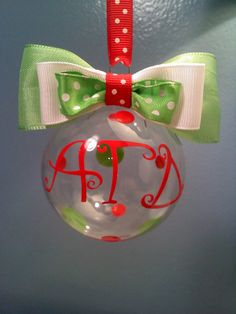 Alpha Gamma Delta Christmas Ornament by MamaBern on Etsy  But with AXO of letters of course!!!