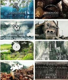 Places of Middle Earth