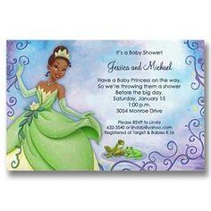 shower invitations disney princesses frog baby showers princess